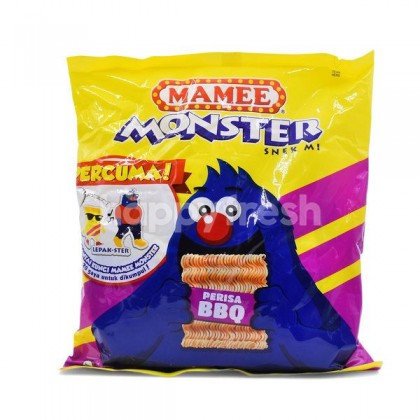 MAMEE MONSTER Noodles Snacks (BBQ) 25G x 8'S