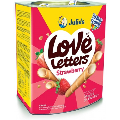 JULIE'S Love Letter Wafer Roll (Strawberry) 700G