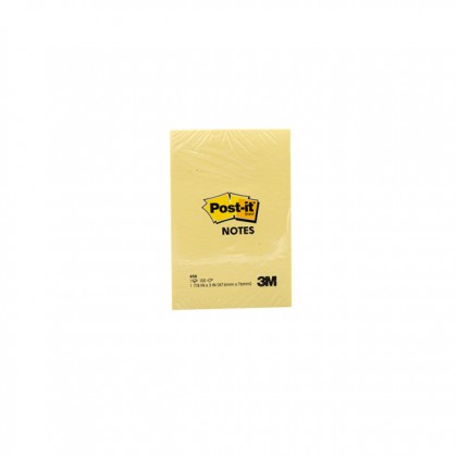 """3M POST-IT Sticky Notes Yellow 2.0"""" x 3.0"""" x 100'S"""